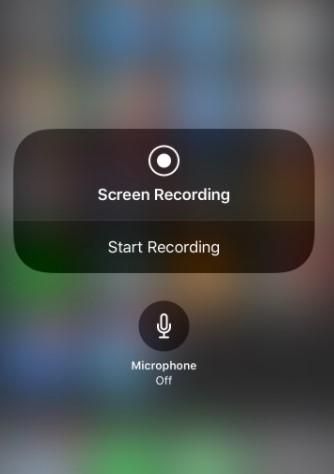 tap Start Recording,