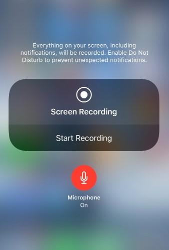 tap Start Recording