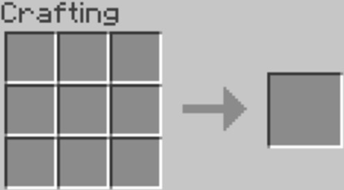 the 3x3 crafting grid.1