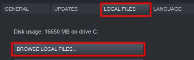 click the local files tab and click browse local files-