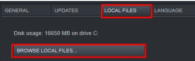 click the local files tab and click browse local files