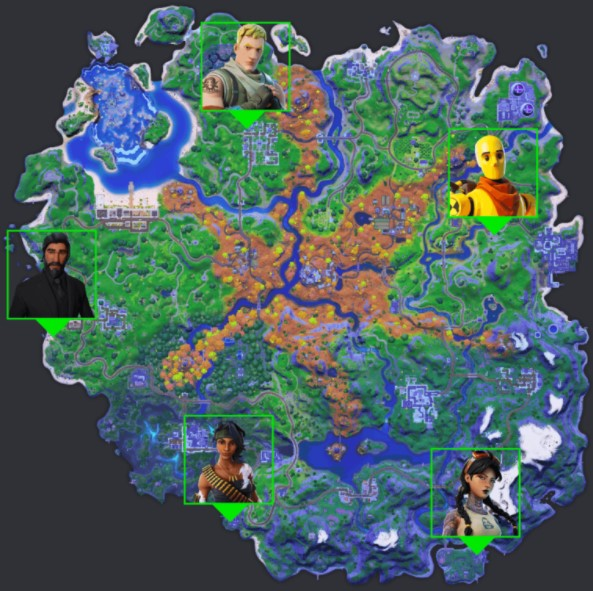 NPCs Location in Season 6
