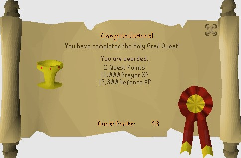 The Rewards for Completing Holy Grail Quest