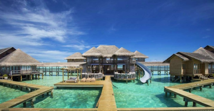 The best Maldives overwater bungalows with slide
