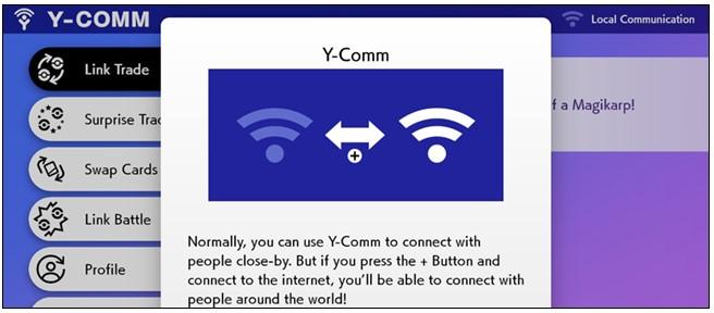 Y-Comm menu