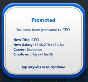 become CEO.