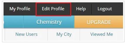 click on the Edit Profile