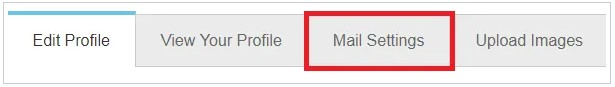 click on the Mail Settings option