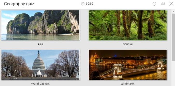 Bing Geographic Quiz