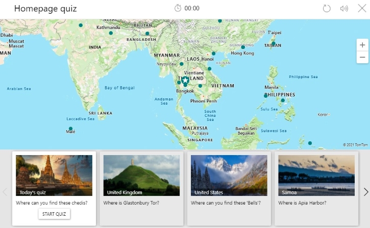 Bing Homepage Quiz about Earth