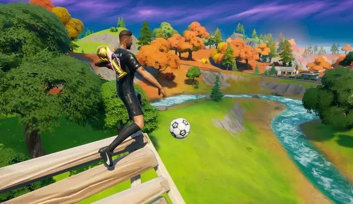 Drop Kick Soccer Ball in Fortnite