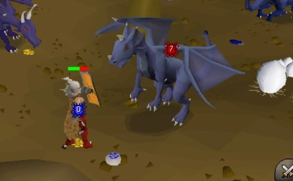 Fighting Brutal Blue Dragon without Antifire
