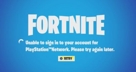 Fortnite Unable to Sign in to Account for Playstation Network,