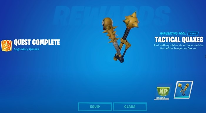 How to unlock the Tactical Quaxes pickaxe