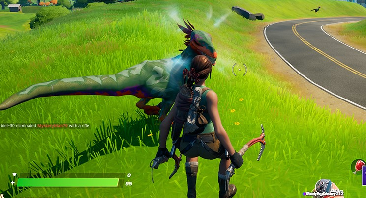 Taming Raptors in Fortnite