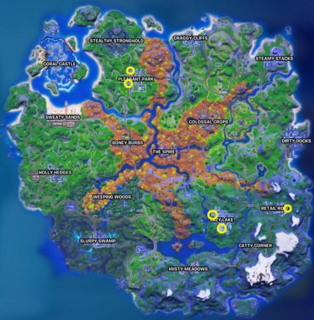 The locations of Fortnite Literature Sample