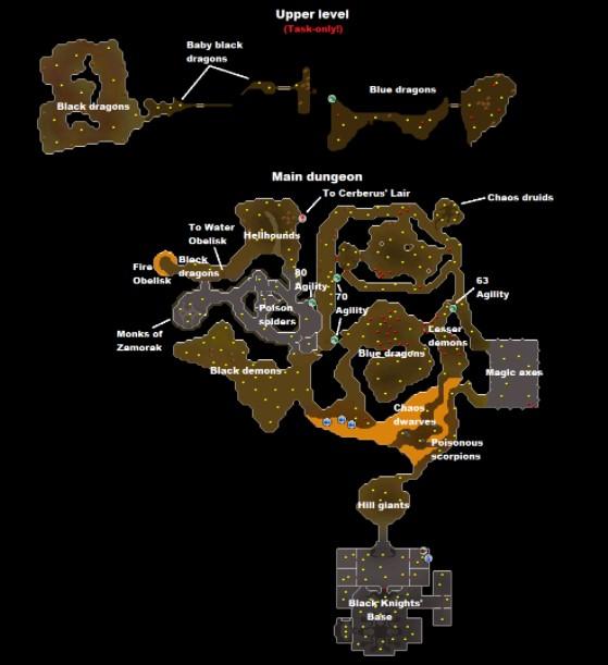 map Taverly Dungeon