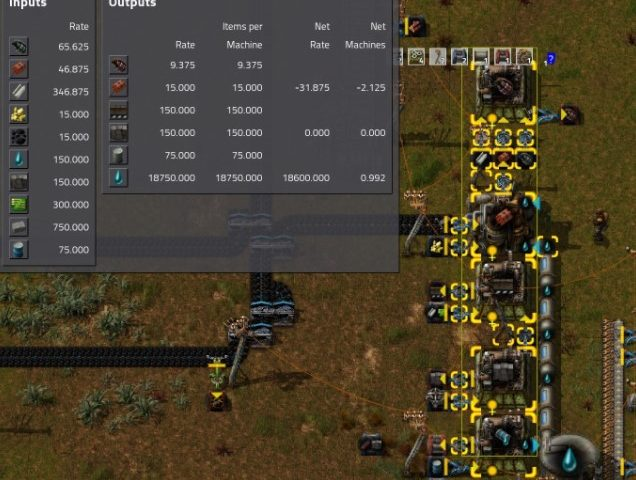 Factorio Mod Max Rate Calculator
