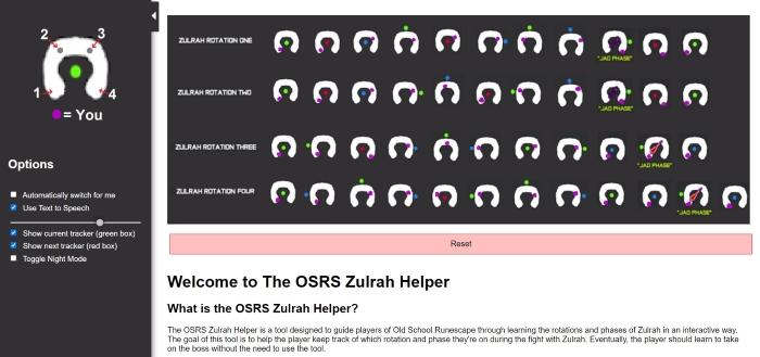 OSRS Interactive Zulrah Helper