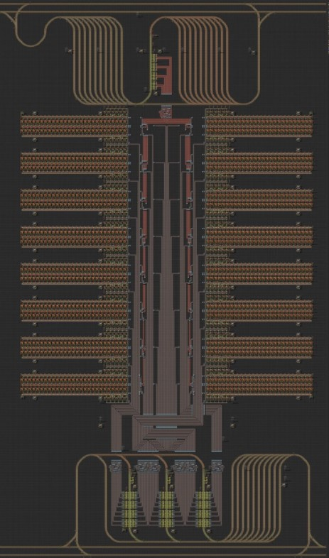Red Circuit Sub-factory (non-beacon) (360 i s) for 2-4 RHD Train