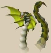 serpentine form (green)