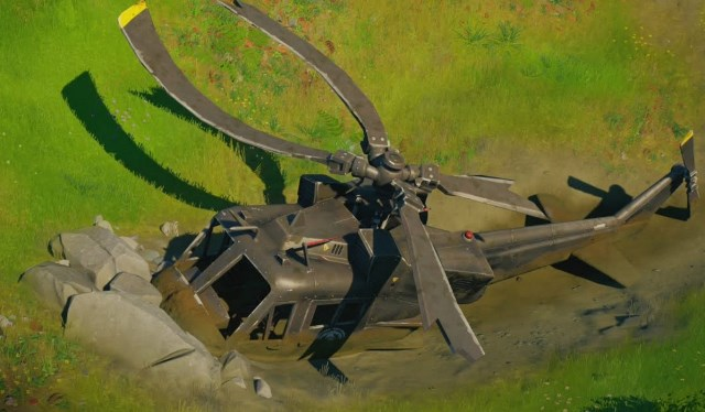 Investigate Downed Black Helicopter on Fortnite