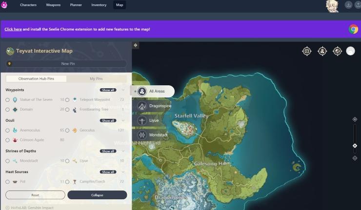 seelie.inmagi Genshin Impact map
