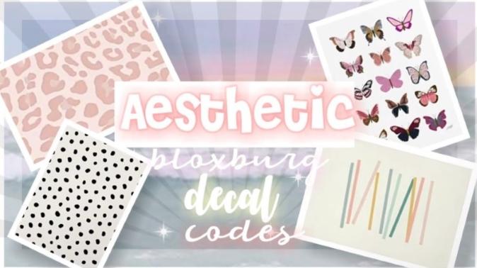 Aesthetic Cute Decal Codes Bloxburg