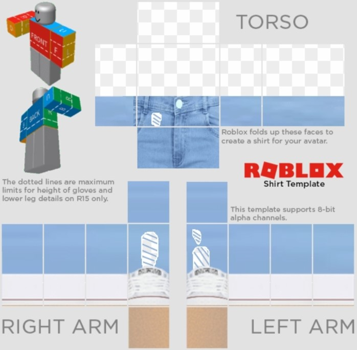 Aesthetic Roblox Shirt Template PNG Image Transparent Background