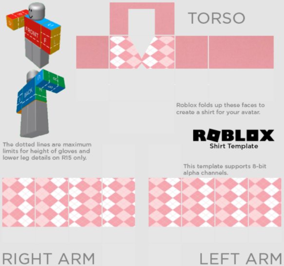 Aesthetic Roblox Shirt Template Transparent