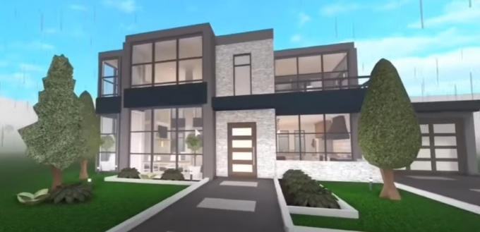 Biafur entitled Bloxburg Modern Villa 50k