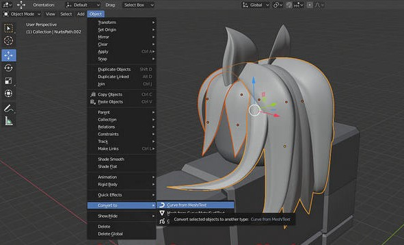 Convert the Curves to Meshes