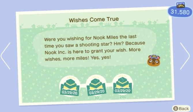 Counting Towards The Nook Miles+ Program Challenges through Wishing on Shooting Stars