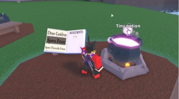 Create a tiny potion