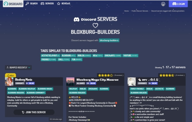 Discord Servers of Bloxburg