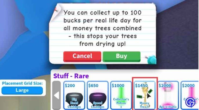 How does the Money Tree in Roblox Adopt Me work