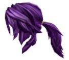 Purple Action Ponytail