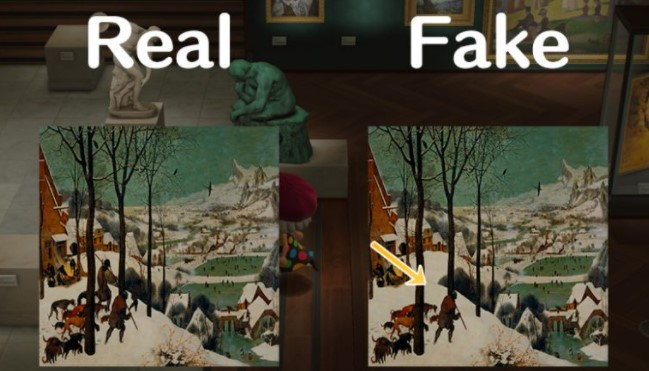 Scenic Painting Real vs Fake