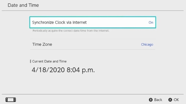 deselect Synchronize Clock via Internet