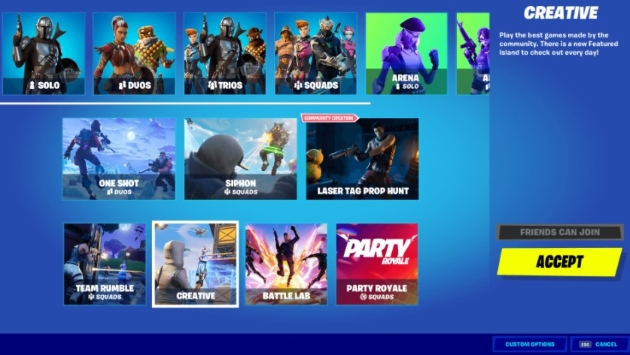 launch the game called Fortnite