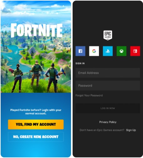 log into your Fortnite account if you have had it already