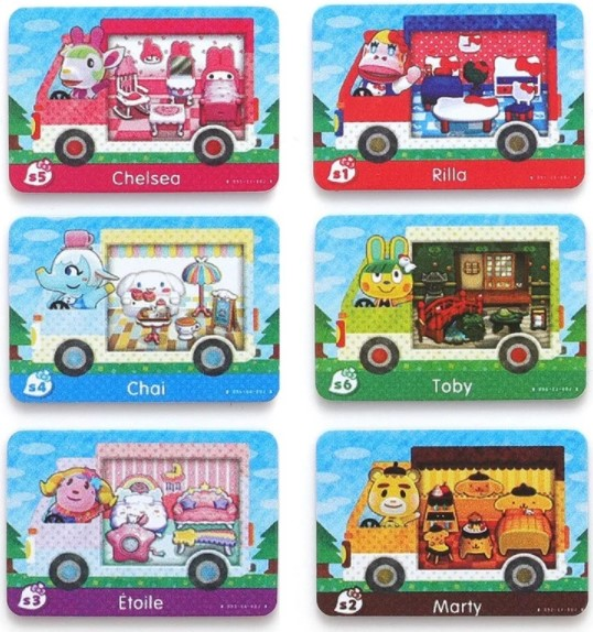 6 characters of Sanrio from these Amiibo cards.