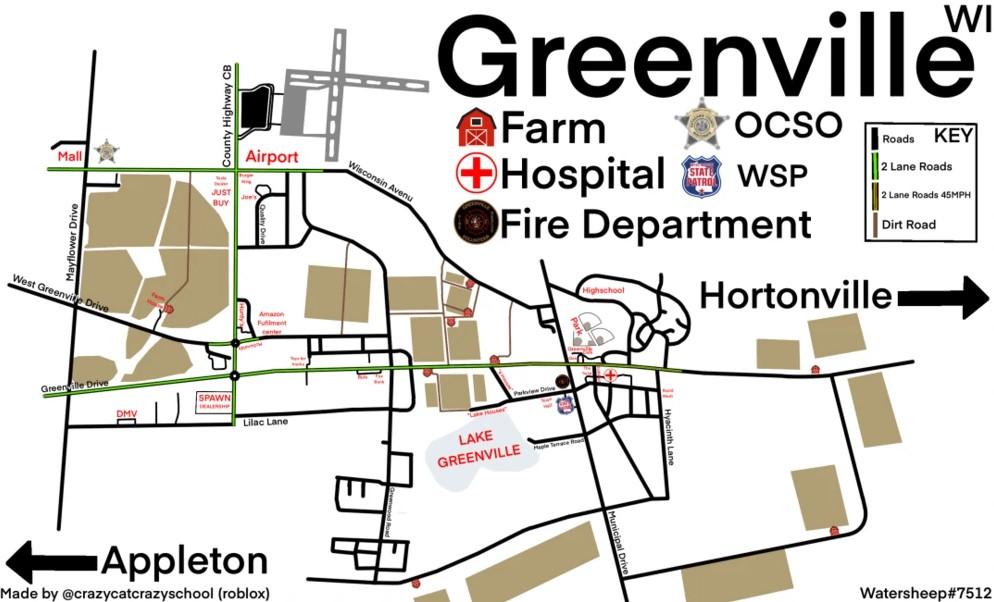 Greenville Roblox Map 2021