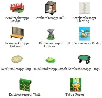 Keroppi Items