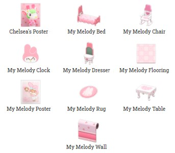 My Melody Items