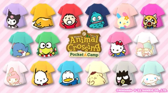 New Clothing Collection Sanrio Characters Tees Collection