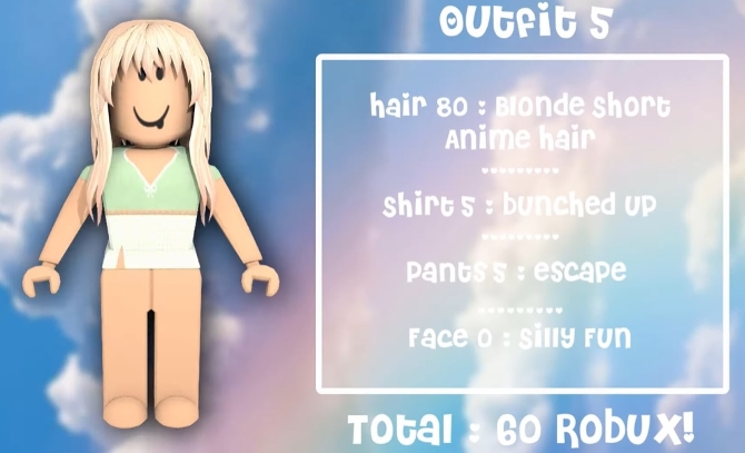 Outfit 5 Softie Roblox Avatars