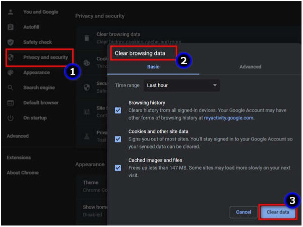 Remove personal settings from Internet Options