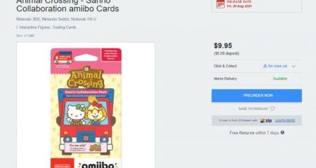 Sanrio Amiibo Cards Australia Restock EB Games