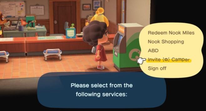 choose Invite amiibo camper